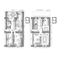 Перепланировка двухуровневой квартиры/ S 190 м. кв. Здание 1937 г. г. Махачкала. 2015 г.