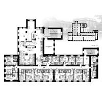 Отель бизнес-класса. Планировка 1-го этажа.