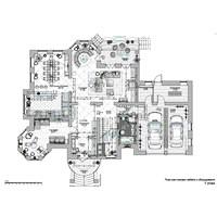 Планировка 3-х этажного дома. S 589 кв. м. г. Москва, 2014 г.