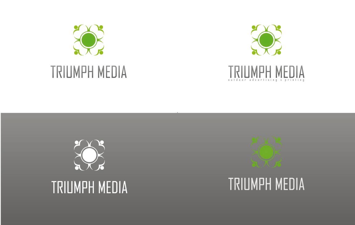 Разработка логотипа  TRIUMPH MEDIA с изображением клевера фото f_50796f132862e.jpg