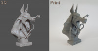 Bust Anubisath Print