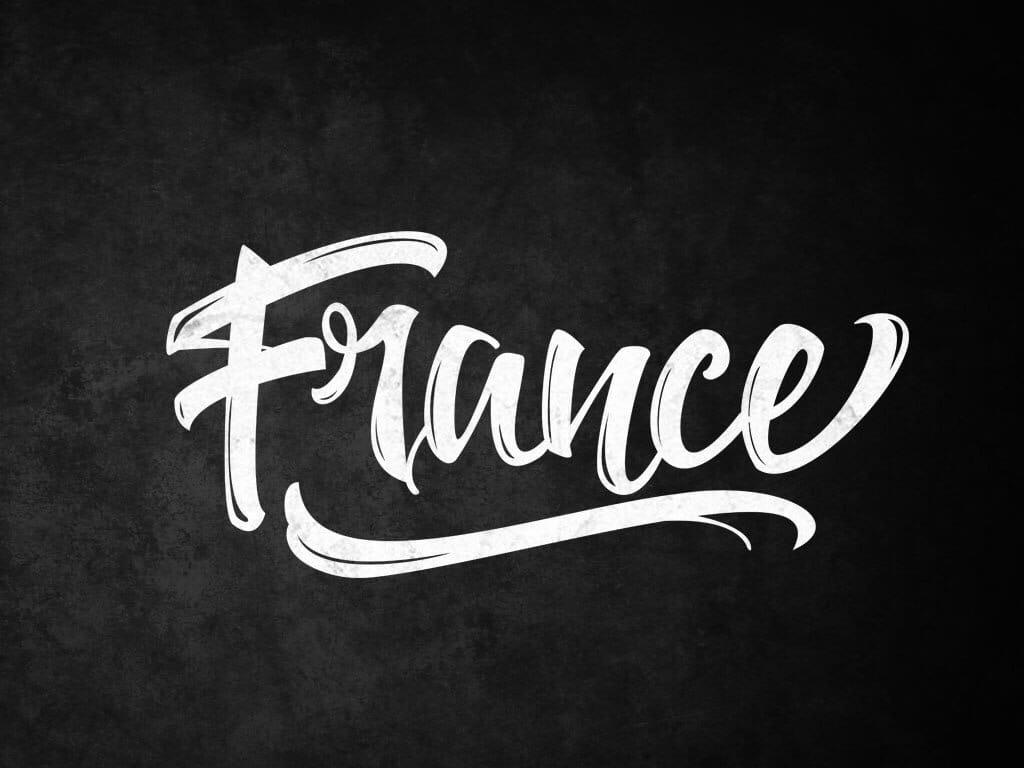 Леттеринг France