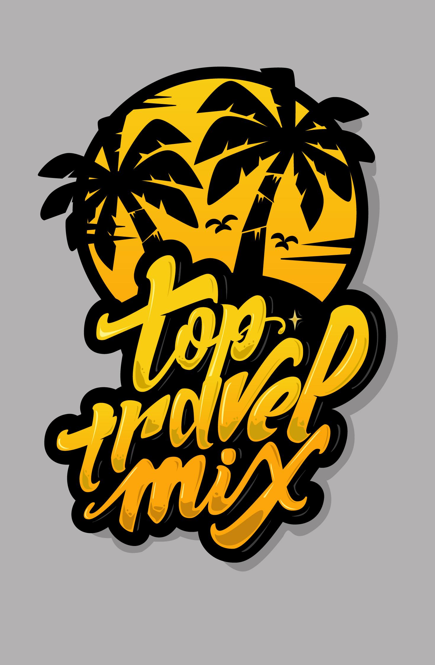 Леттеринг лого для аккаунта Инмтаграмм в тематике путешествий