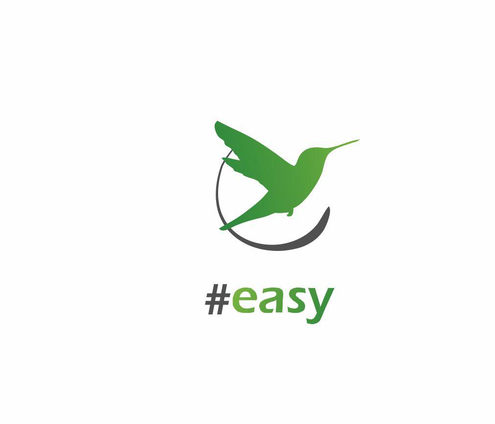 Разработка логотипа в виде хэштега #easy с зеленой колибри  фото f_7945d4eb354e3af4.jpg