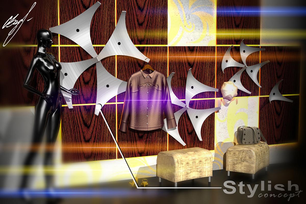 Визуализация вешалки для одежды