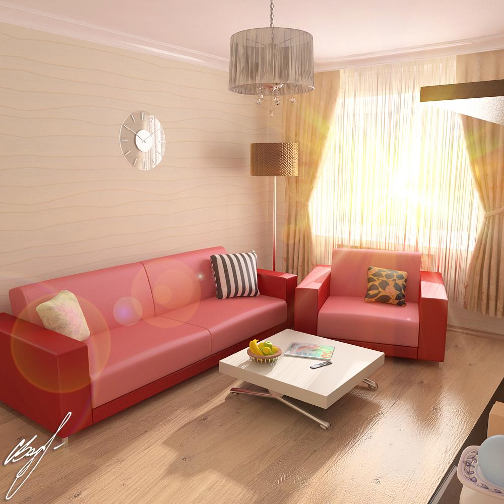 Квартира молодой пары (гостиная)