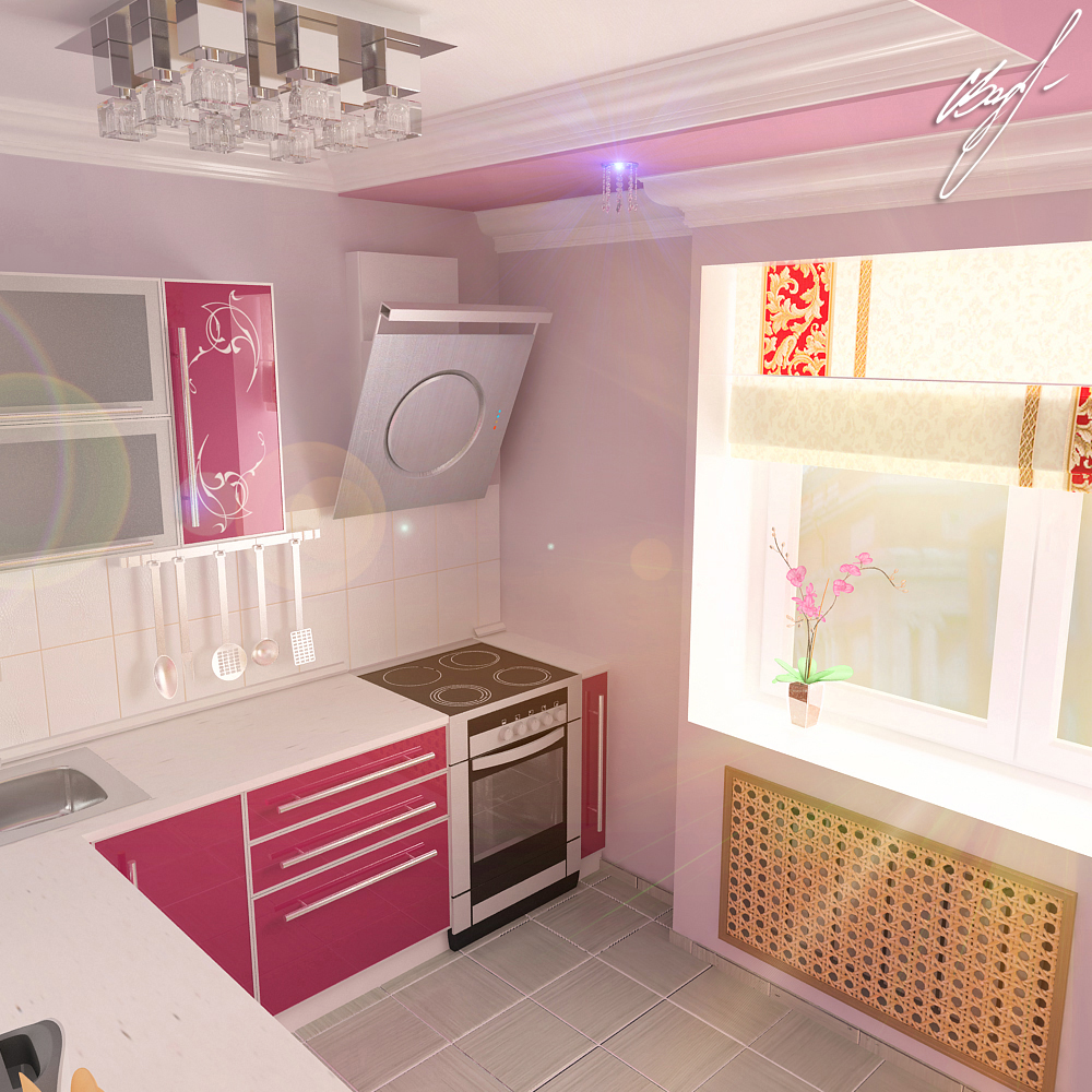 Квартира молодой пары (кухня)