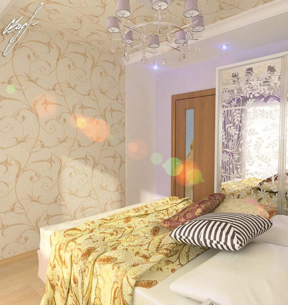 Квартира молодой пары (спальня)