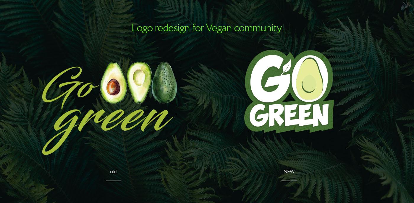 Редизайн логотипа веган-сообщества