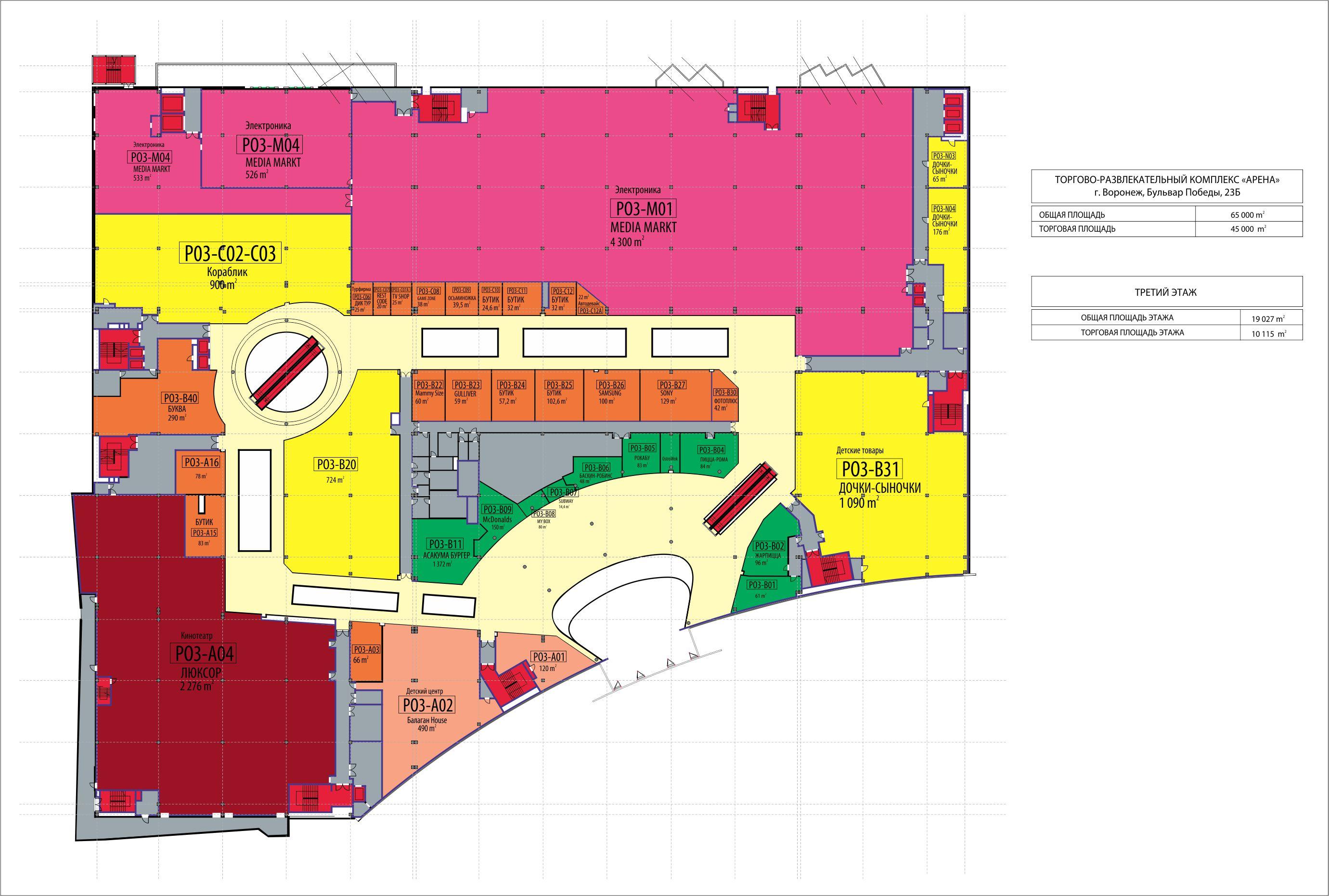 Планировка - торговый центр