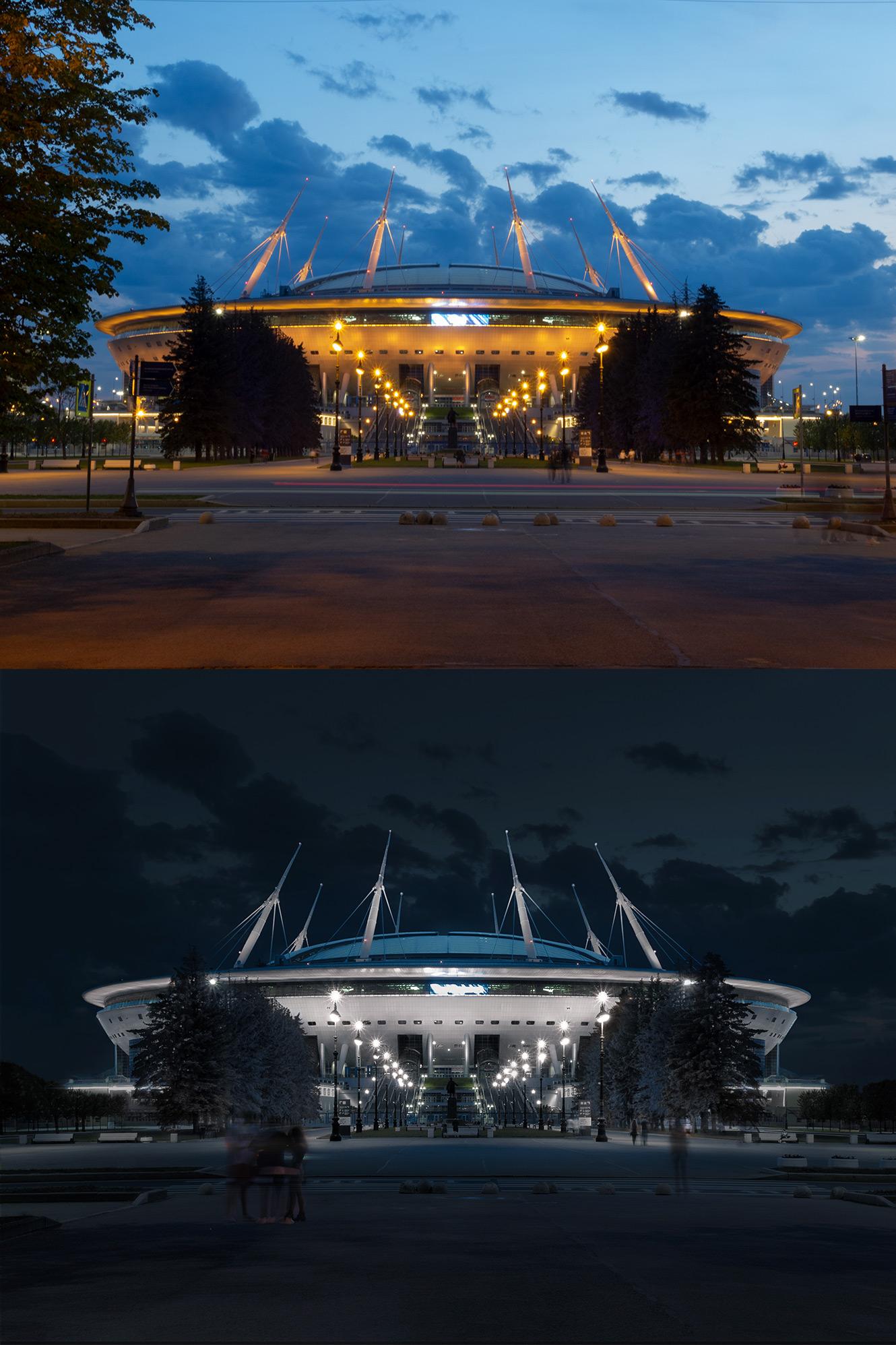 Фотообработка: Газпром Арена