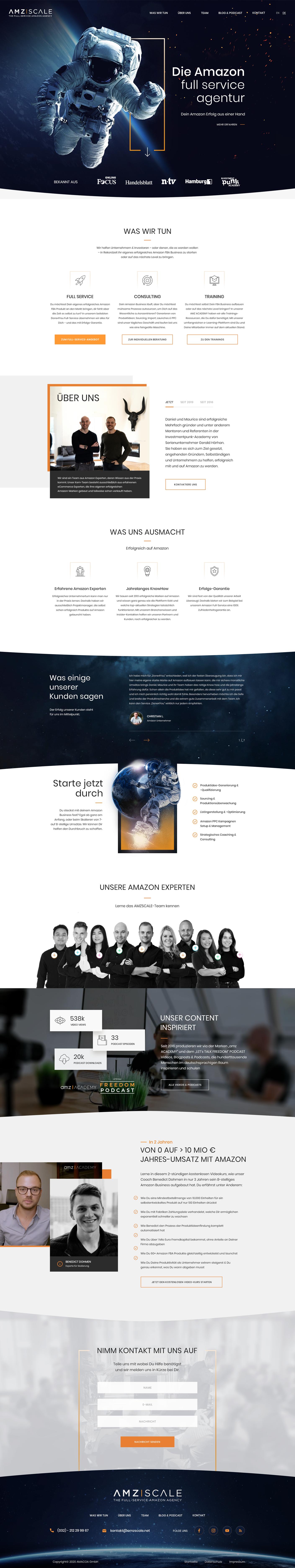 Лендинг / Young Amazon Agency - агентство по запуску продаж на Amazon