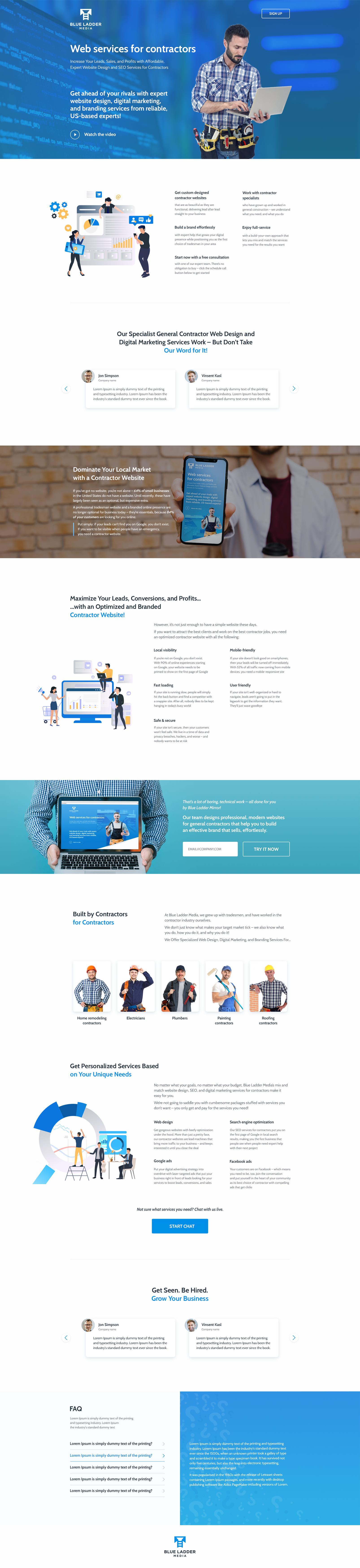 Лендинг / Blue Ladder - маркетинговое агенство