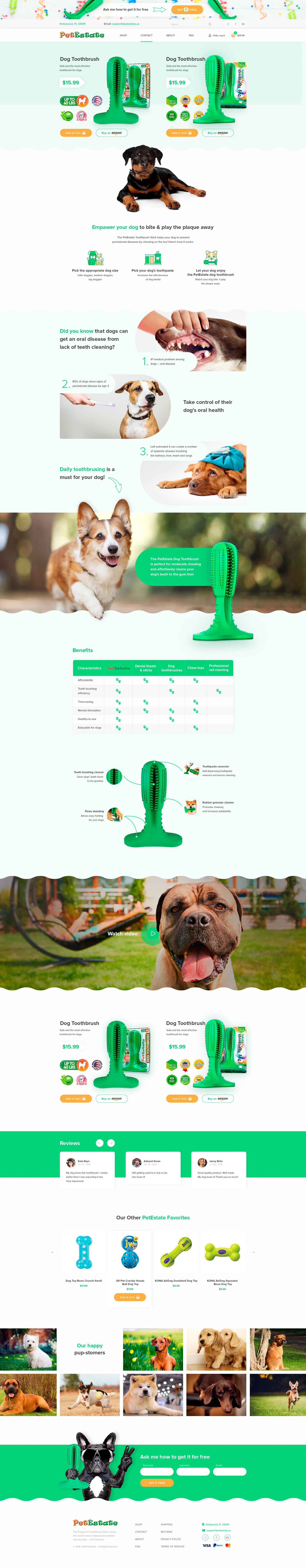 Интернет-магазин / PetEstate - зубные щетки для собак