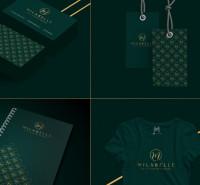 Фирменный стиль и логотип для студии женской одежды Milabelle