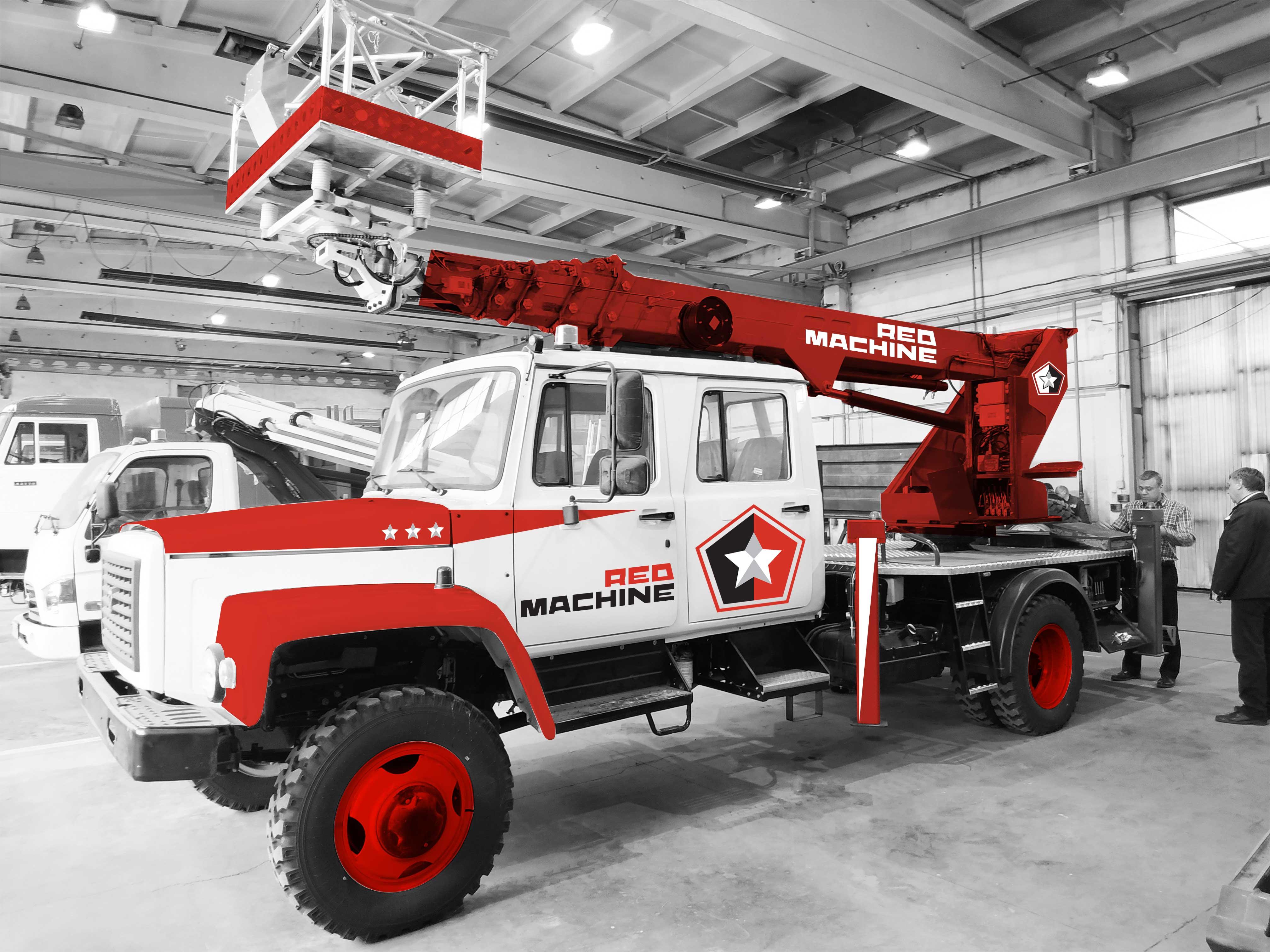 Оформление автогидроподъёмника,  бренд - RED MACHINE фото f_7865e14e0b6b99a6.jpg