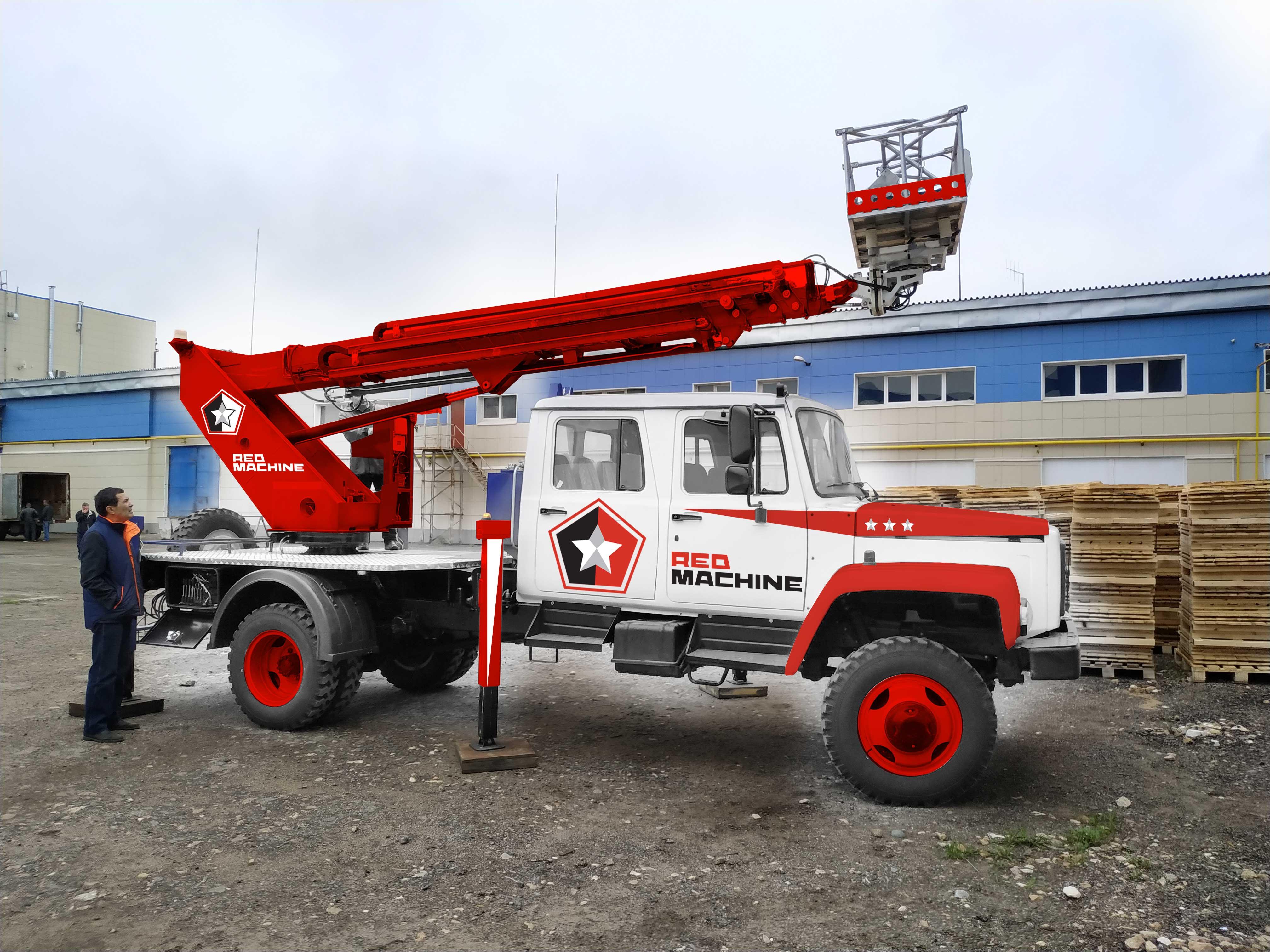 Оформление автогидроподъёмника,  бренд - RED MACHINE фото f_9535e14e0b39defb.jpg