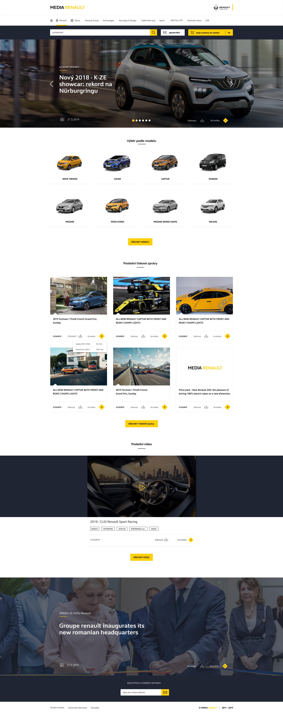 Renault Czech, медиа-сайт оф. представительства