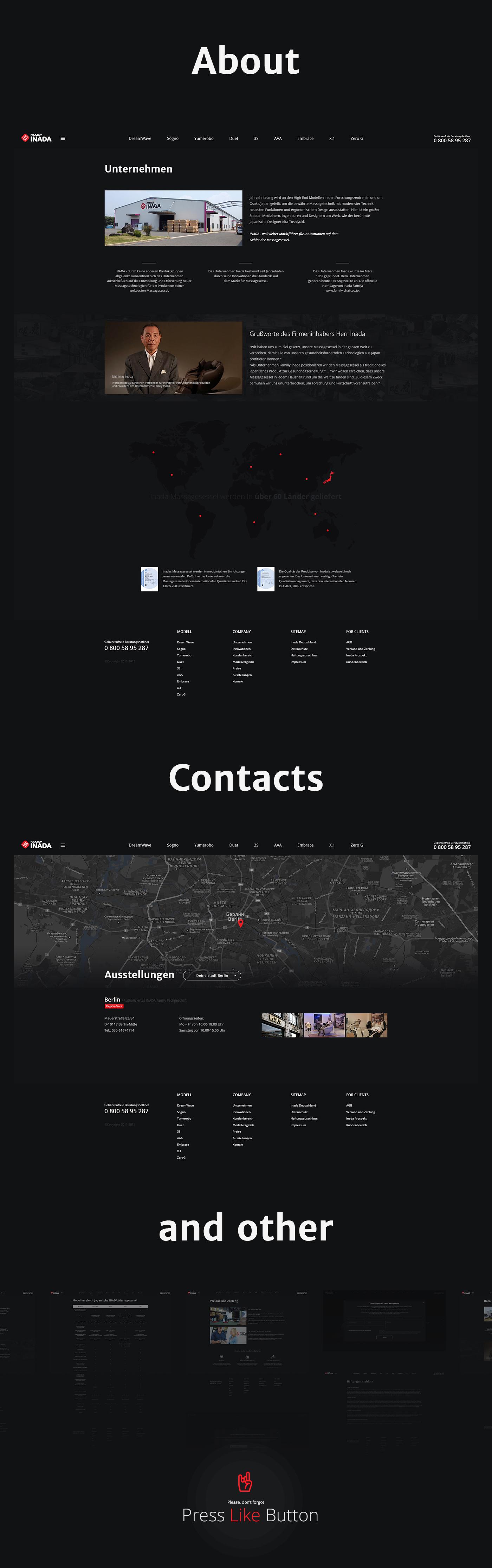 Inada - имиджевый сайт