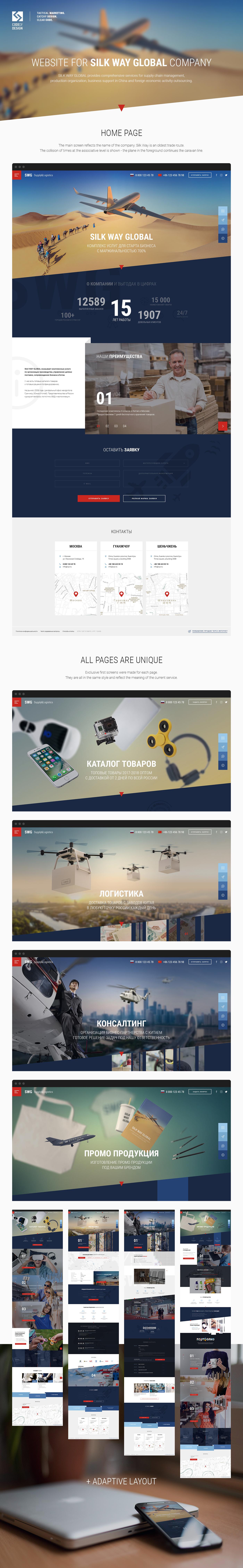 Сайт для SWG, производство и доставка из Китая