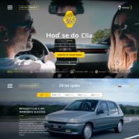 Renault Clio, сайт-презентация для оф. представительства в Чехии
