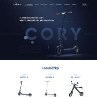 Cory - сайт по продаже самокатов, параллакс