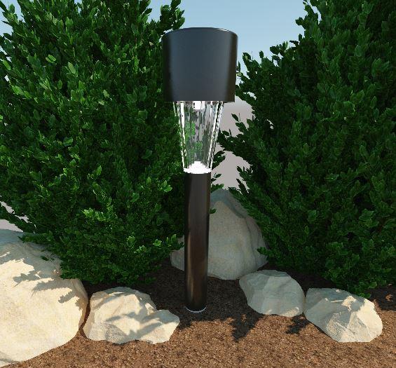 фонарик на солнечной панели