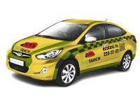 Обклейка такси