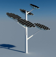 стелла с солнечными батареями