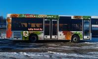 обклейка автобуса