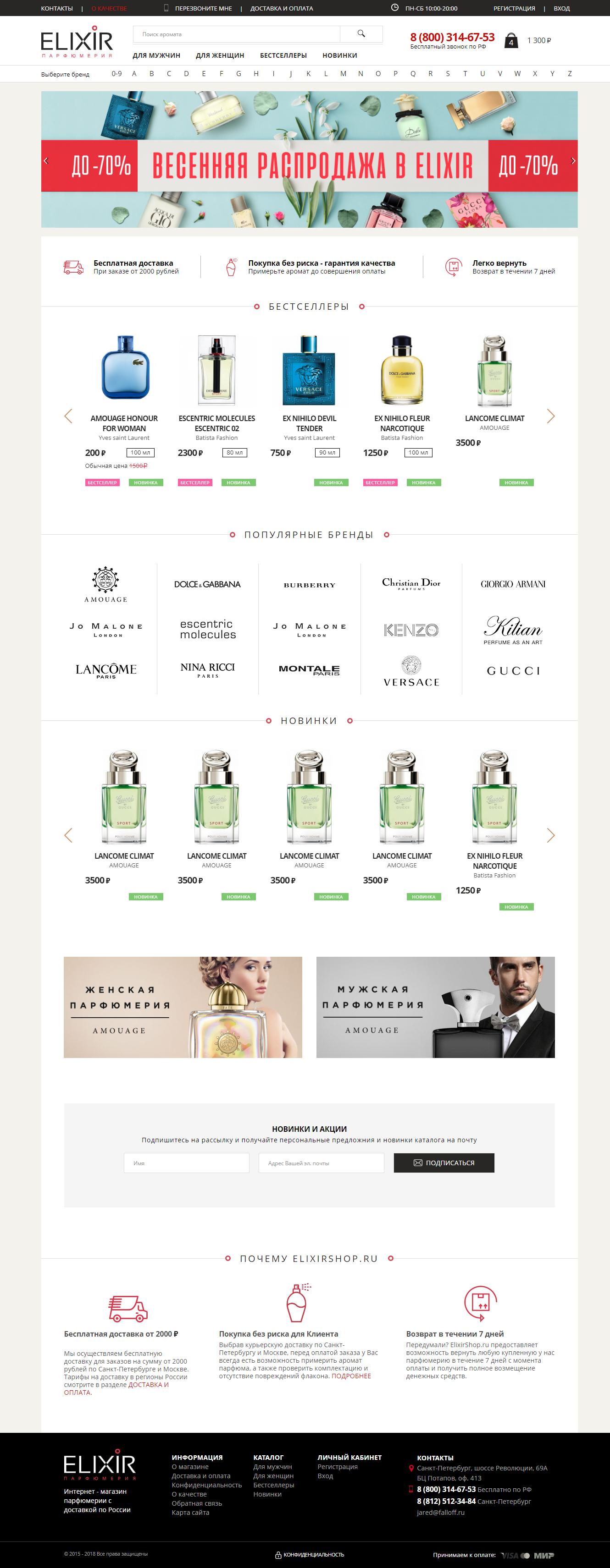 Интернет - магазин парфюмерии