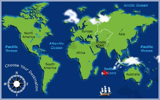 Интерактивная карта мира для туризма