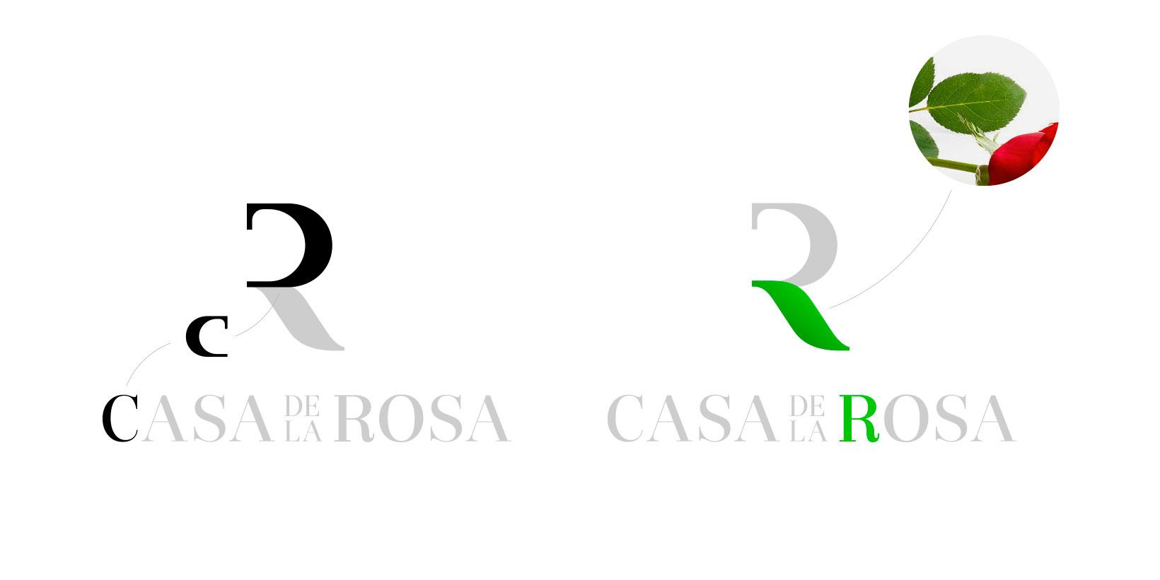 Логотип + Фирменный знак для элитного поселка Casa De La Rosa фото f_3955cd2c295d8930.jpg