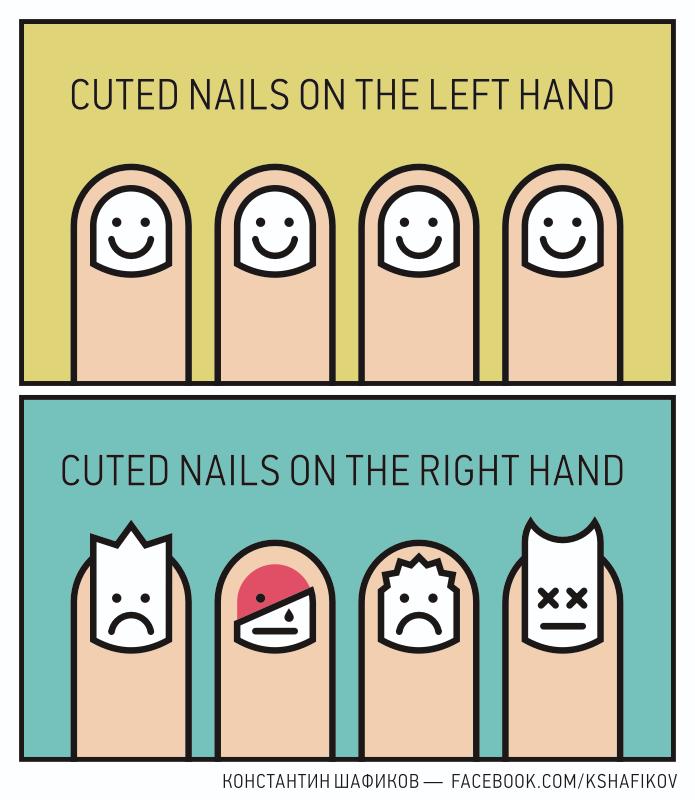 Пальцы, комикс