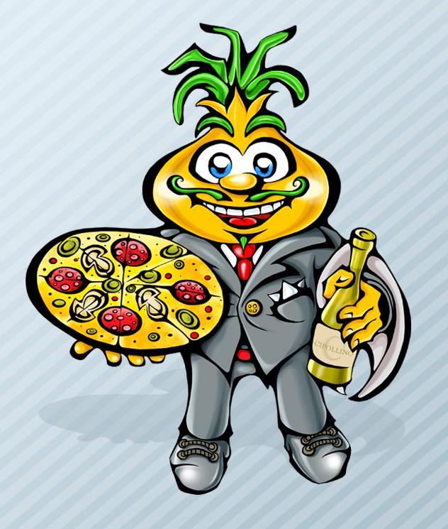 Персонаж для австрийской пиццерии