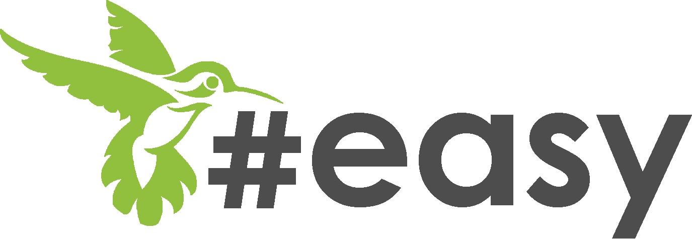 Разработка логотипа в виде хэштега #easy с зеленой колибри  фото f_3165d516ee482453.jpg