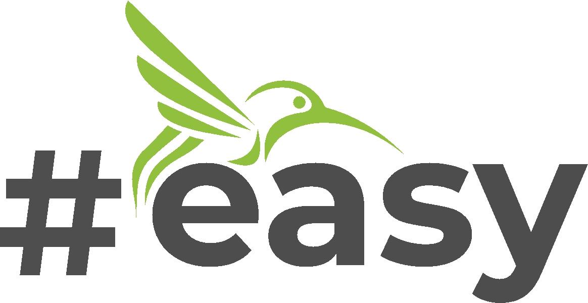 Разработка логотипа в виде хэштега #easy с зеленой колибри  фото f_7665d516ee0c0aa7.jpg