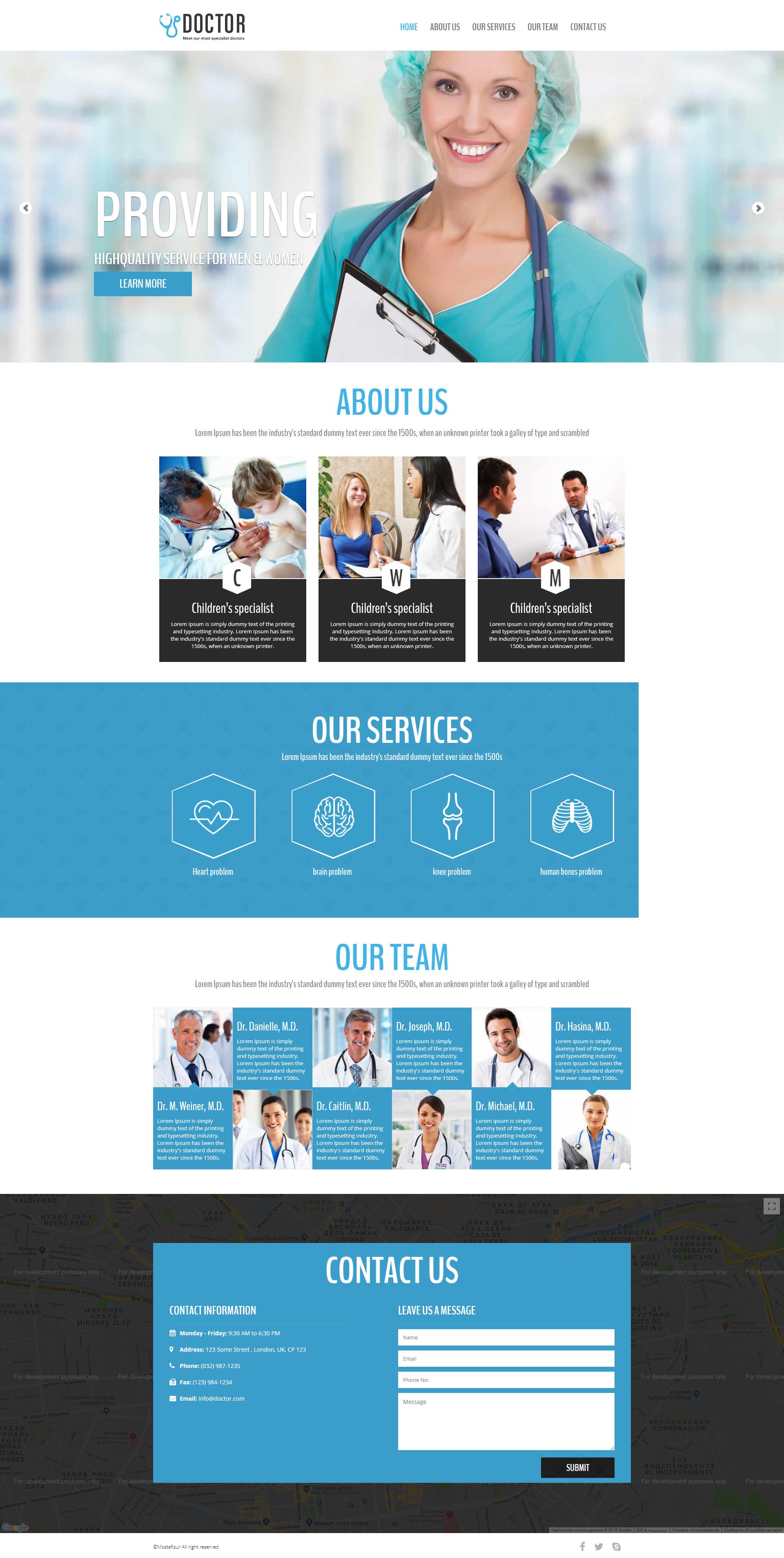 Сайт частной мед клиники