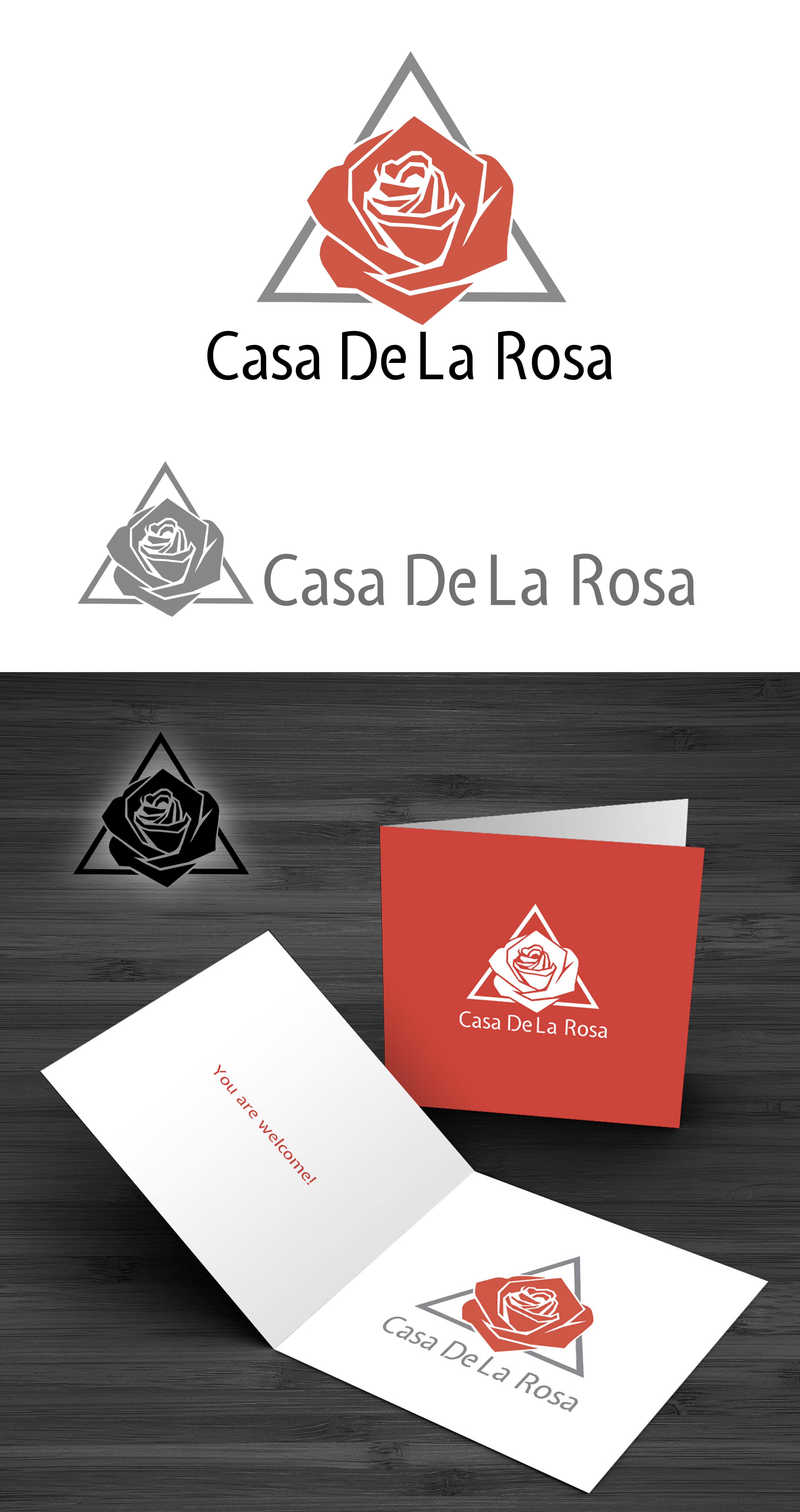 Логотип + Фирменный знак для элитного поселка Casa De La Rosa фото f_8635cd95223dccaa.jpg