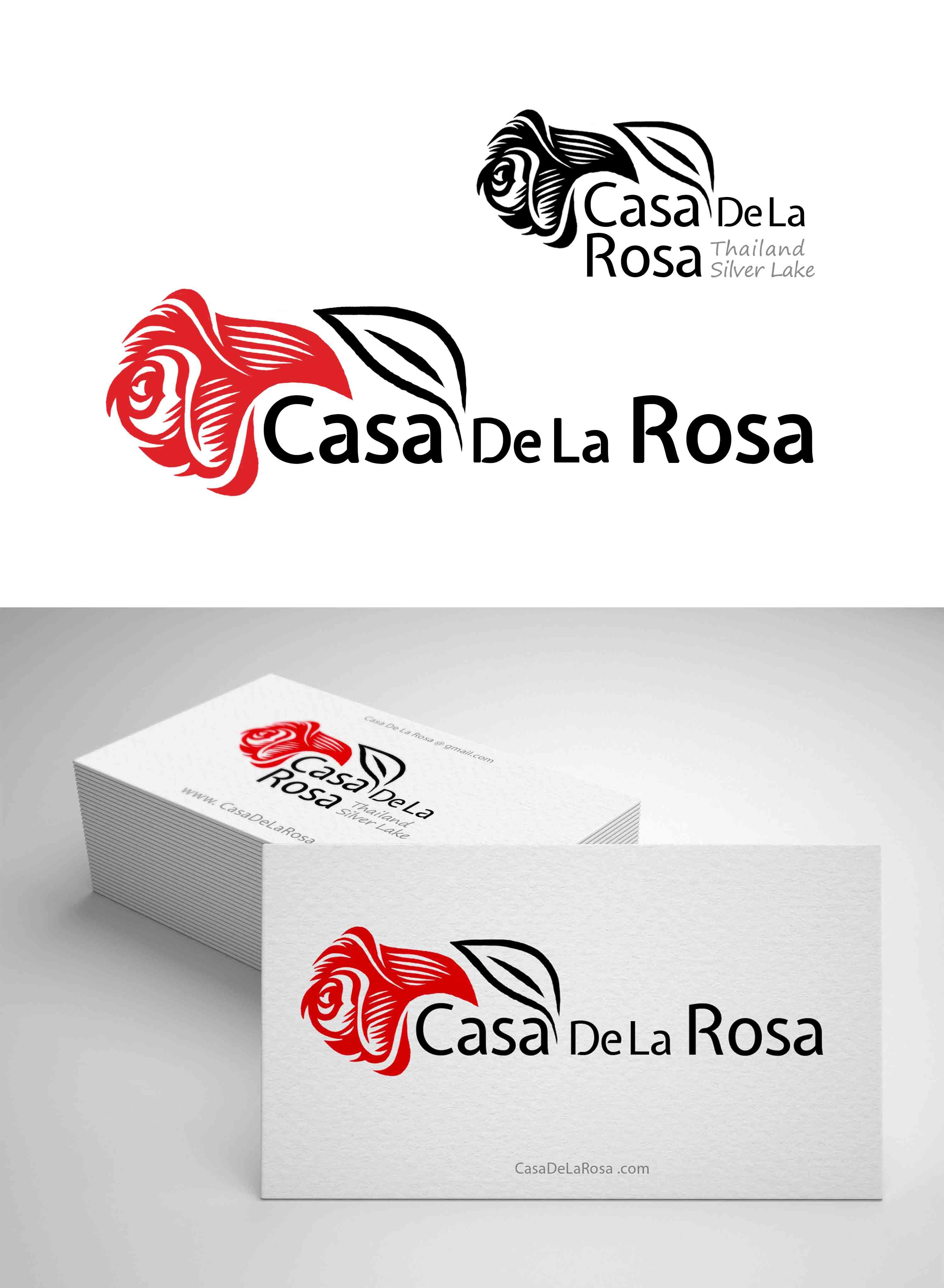 Логотип + Фирменный знак для элитного поселка Casa De La Rosa фото f_9855cd4145d23338.jpg
