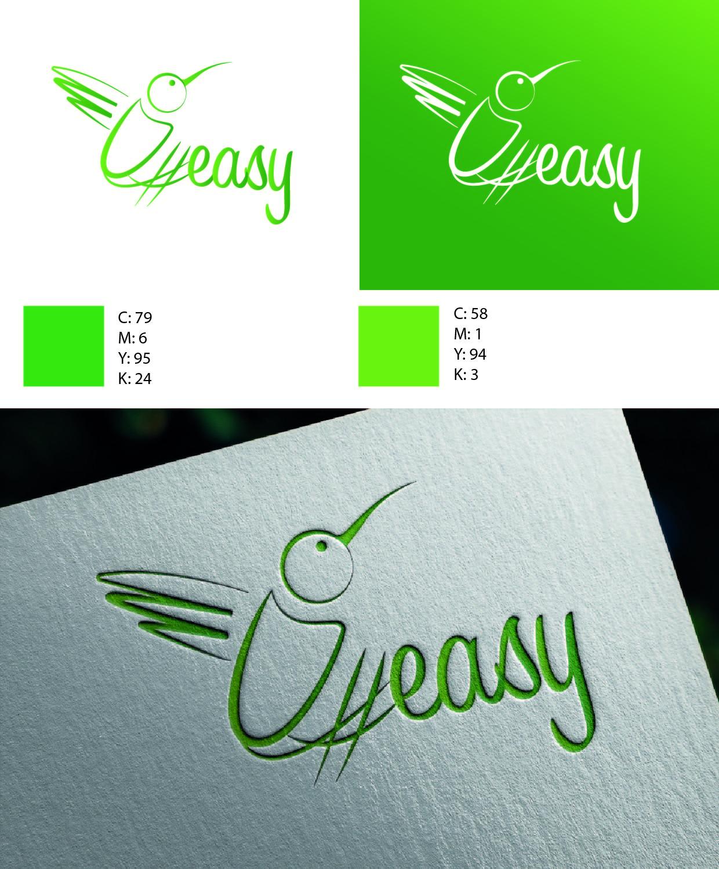 Разработка логотипа в виде хэштега #easy с зеленой колибри  фото f_4285d515685e38c9.jpg