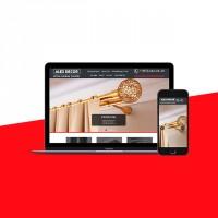 """Создание сайта для Салона штор """"Alex Decor"""""""
