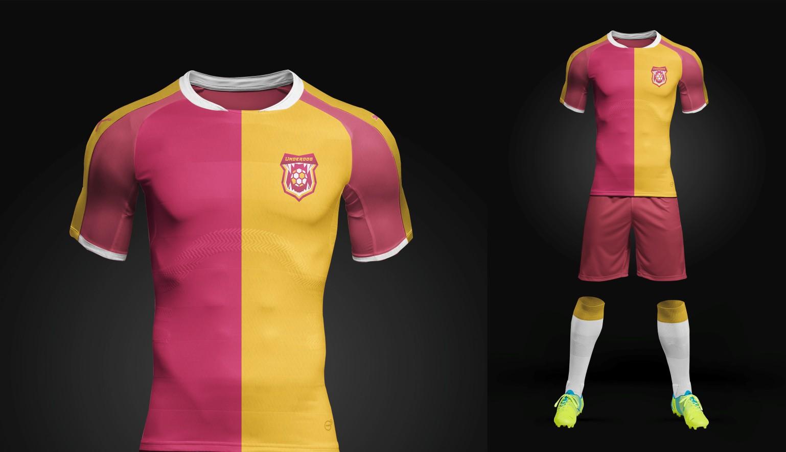 Футбольный клуб UNDERDOG - разработать фирстиль и бренд-бук фото f_1615cb2e9ef9562e.jpg