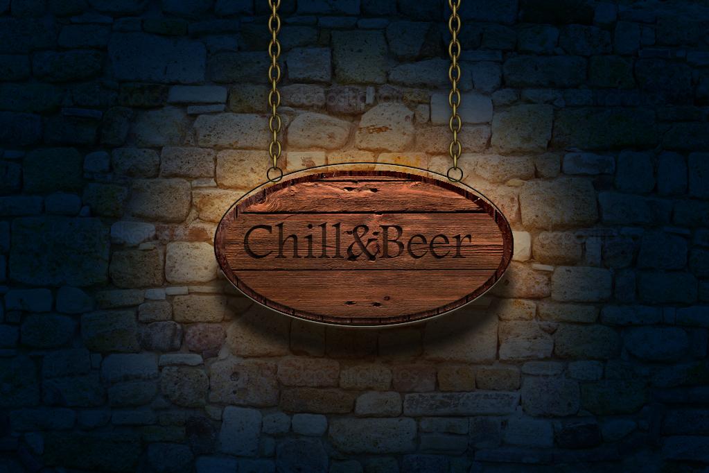 Вывеска Chill&Bear