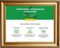 Целевая страница для финансовой программы