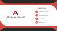 Alliance Rental визитка