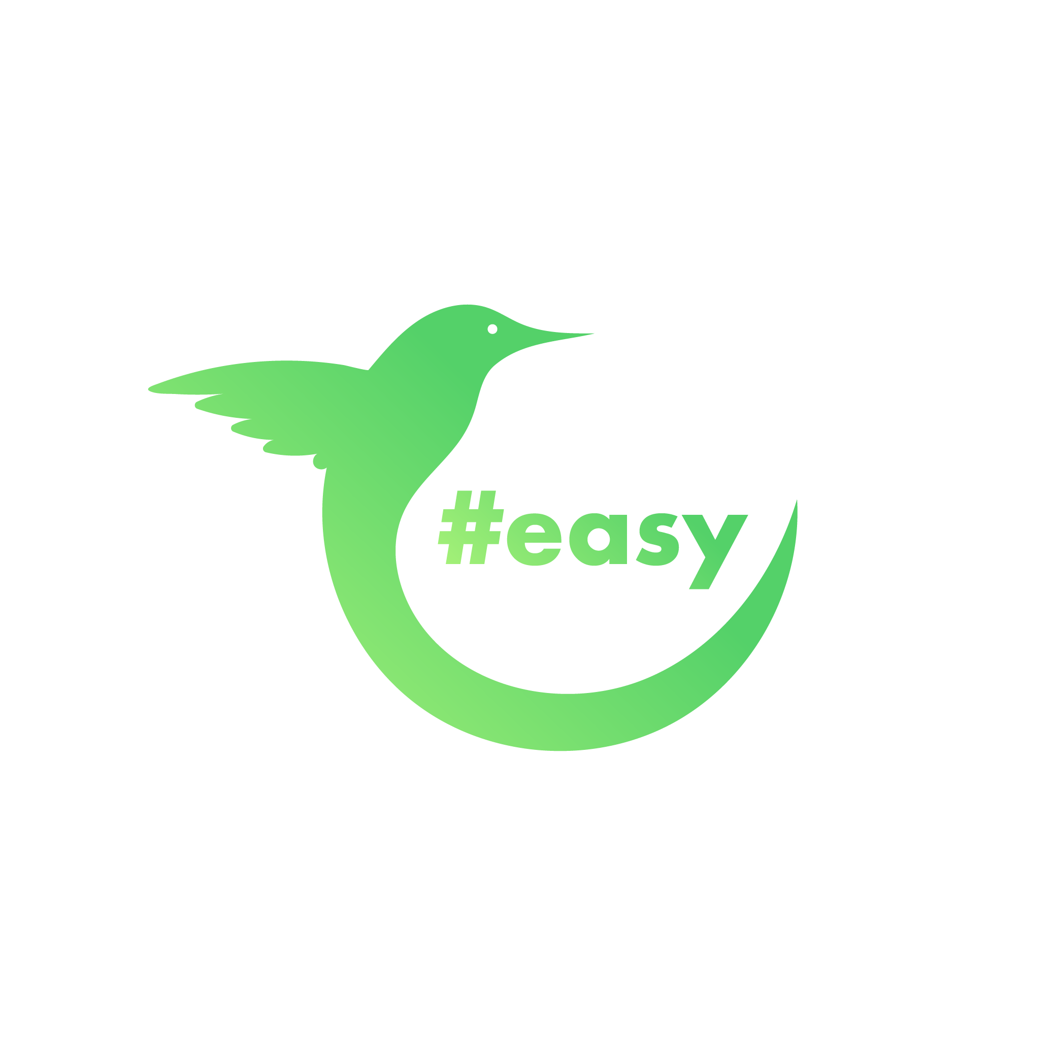 Разработка логотипа в виде хэштега #easy с зеленой колибри  фото f_8865d4dc5a1cd689.png