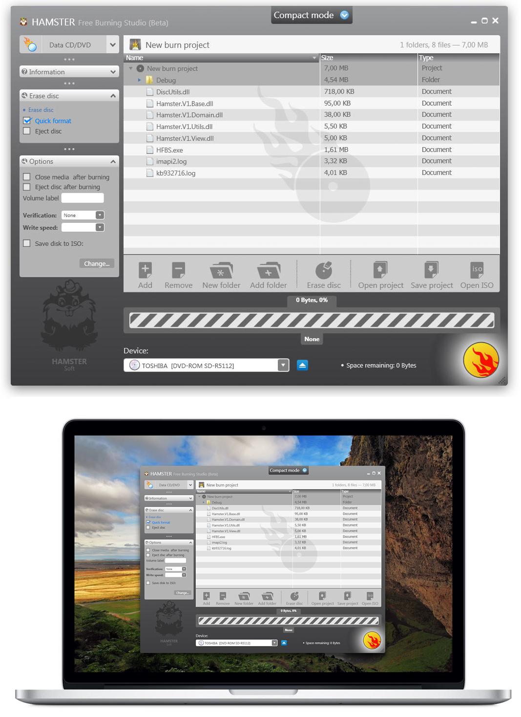Разработка 10 готовых продуктов для компании HamsterSoft (Архиваторы, конвертеры, инсталяторы и т.д.)