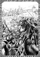 Атака конницы на комья хирда. Добро пожаловать в ад, кавалеры!
