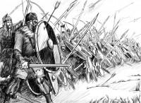 Хирд Хрерика в бою.